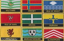 United Kingdom County Flag & Regional Flag Embroidered Patch