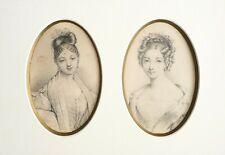2 dessins portrait de femme attr. à Henri GREVEDON (1776-1860)