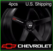 4 CHEVY Chevrolet Stickers Decals Wheels Rims Camaro corvette rs ss WHITE-red