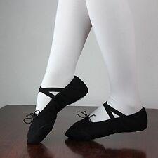 Child Girls Kids Gymnastics Ballet Dance Shoes Canvas Slippers Pointe Dance Wear