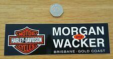 HARLEY DAVIDSON MORGAN & WACKER BRISBANE STICKER GRAPHIC DECAL MOTORBIKE