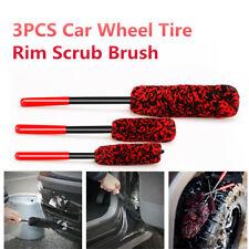 3PCS Car Wheel Tire Rim Scrub Brush Washing Cleaner Vehicle Cleaning HandingTool