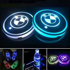 2PCS LED Car Cup Holder Pad Coaster Mat Light Switchable Change 7 Colors for BMW