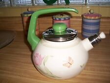 "Villeroy Boch BASKET Metal Tea Coffee Kettle Handle Lid ""Florea"" retired"