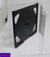 Doppel CD Hülle durchsichtig schwarz 2 CDs DVDs 2fach Maxi Breite 10 mm 1 cm Neu