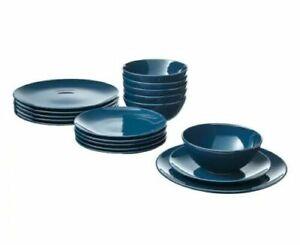 ikea FÄRGRIK 18-Piece Dinnerware Set,  NEW  3 VARIATION