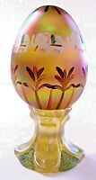 Fenton Formation Of Elephants On Gold Paperweight Egg LE FREE SHIP TO LOWER 48