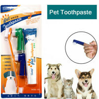 Pet Dog Cat Health Cleaning Kit Teeth Oral Care Toothpaste + Toothbrush Set AUN