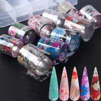 Sky Lace Flower Holographic Decals Nail Foil Manicure Decor Nail Art Stickers