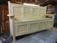 Hand Made,Hallway Seat,Storage Bench,Monks Bench,Settle,Pine Furniture,NEW