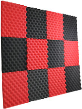 12 Pc Acoustic Wall Panels Sound Proofing Wedges Foam Material Pads Studio Decor