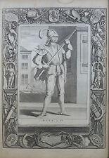 JAN VAN DALEN GRAVURE 1635 DIRK DE IV ORIGINAL ENGRAVING 17è