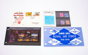 BUNDLE Collection of Isle of Man First Day Covers / Miniature Sheets / Packs