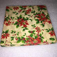 Vintage Christmas Holiday Mistletoe Box 6 1/4�by 6 1/4�by 1/2�
