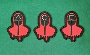 Squid Game Guards Embroidered Badge Patch Iron on or Sew on