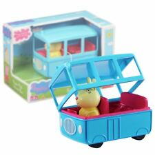 New Peppa Pig School Bus Playset w/ Miss Rabbit Vehicle Official