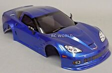 1/10 RC Car BODY Shell CHEVY CORVETTE 190mm  w/Light Buckets  BLUE -FINISHED-