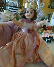 8� circa 1950'S Plastic Molded Arts Co Queen Coronation Doll w/Crown/ Gown/ Sash