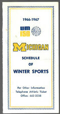 New listing VERY RARE 1966-67 Michigan College Hockey Basketball Football Schedule !!!