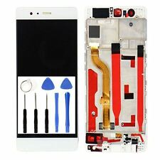 Huawei P9 LCD Display Touch Screen Digitizer Assembly Frame White EVA-L09 L19