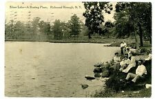 Staten Island NY -A RESTING PLACE ON SILVER LAKE- Postcard