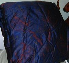 Ralph Lauren Driver Blue Paisley Full/ Queen Comforter With Print Defect