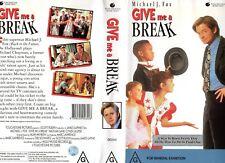 GIVE ME A BREAK - Michael J Fox VHS - PAL -NEW-Never played!-Original Oz release