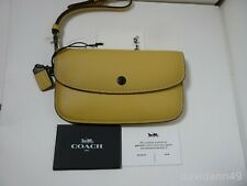 NWT Coach 1941 Glovetanned Leather Wristlet Clutch Wallet 58818 -Sunflower