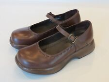 Women's DANSKO Brown Leather Mary Jane Clogs Shoes Size 39 - Nice!