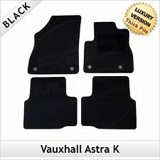 VAUXHALL ASTRA K 2015 onwards Tailored LUXURY 1300g Car Carpet Floor Mats BLACK