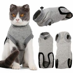 GLF Pet Cat Postoperative Wound Protection Breathable Cotton Restore Stable Suit