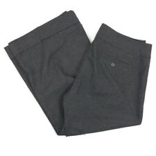 $70 Express Women's Pants Size 6 Gray Vintage Button Front Cropped Cuffed Capri