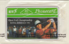BT Commemorative 42 Golf, 40u Birkdale Open 1991 Player Swinging. Mint phonecard