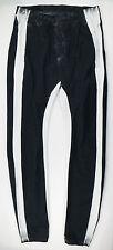 New. 11 By BORIS BIDJAN SABERI Black/White Cotton Casual Pants Size Large $713