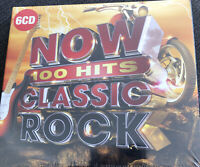 NOW 100 HITS - CLASSIC ROCK [6 CD] NEW & SEALED. Cd Box Set. Freepost In Uk