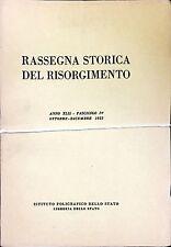 RASSEGNA STORICA DEL RISORGIMENTO. ANNO XLII (1955) - 4 Volumi Completo
