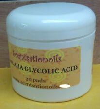 AHA GLYCOLIC ACID 10% CHEMICAL PEEL 30 PADS WRINKLES ACNES BLACKHEADS SKIN FACE