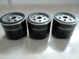 Genuine Ducati Oil Filters 444.4.003.7A ( You are buying all 3 )