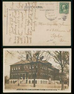 Mayfairstamps Kansas 1910 Topeka Quincy School Real Photo Postcard wwp81415