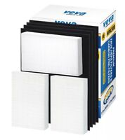 Complete Premium True HEPA Replacement Filter 3 Pack w/ 4 Pre-cut Carbon Filters