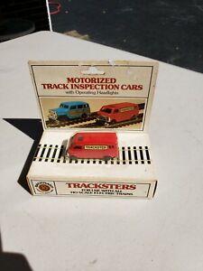 Vintage Bachmann HO Trackster Inspection Car Red Chevy Van NIB.