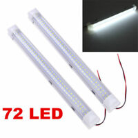 72 LED 12V Car Interior White Strip Lights Bar Lamp Van Caravan ON OFF Switch JR