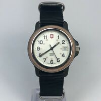 Vintage Swiss Army 1990 Mens Marlboro Field Military Date Quartz Analog Watch