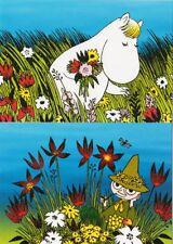 Moomin Troll Summer Official Finland Post Mint Postcards 2