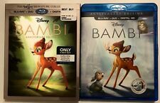 DISNEY BAMBI BLU RAY DVD BEST BUY EXCLUSIVE LENTICULAR SLIPCOVER & LITHOGRAPH