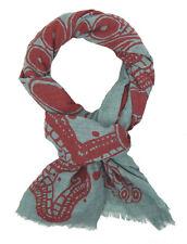Ella Jonte Damenschal grün rot Blumen Print 100% Baumwolle Schal Blumenschal