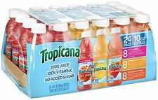 Tropicana 100% Juice 3-Flavor Fruit Blend Variety Pack 10 Ounce Bottles 24 Count
