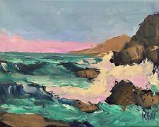 Northwest Coast Original Expression Seascape Oil Painting 8x10 102817 KEN