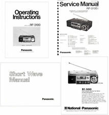 OPERATING / SERVICE MANUALS + SHORTWAVE GUIDE for the PANASONIC RF-3100 - COPY