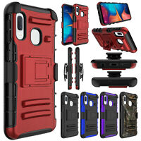 For Samsung Galaxy A10e Case Belt Clip Holster Hard Heavy Duty Stand Phone Cover